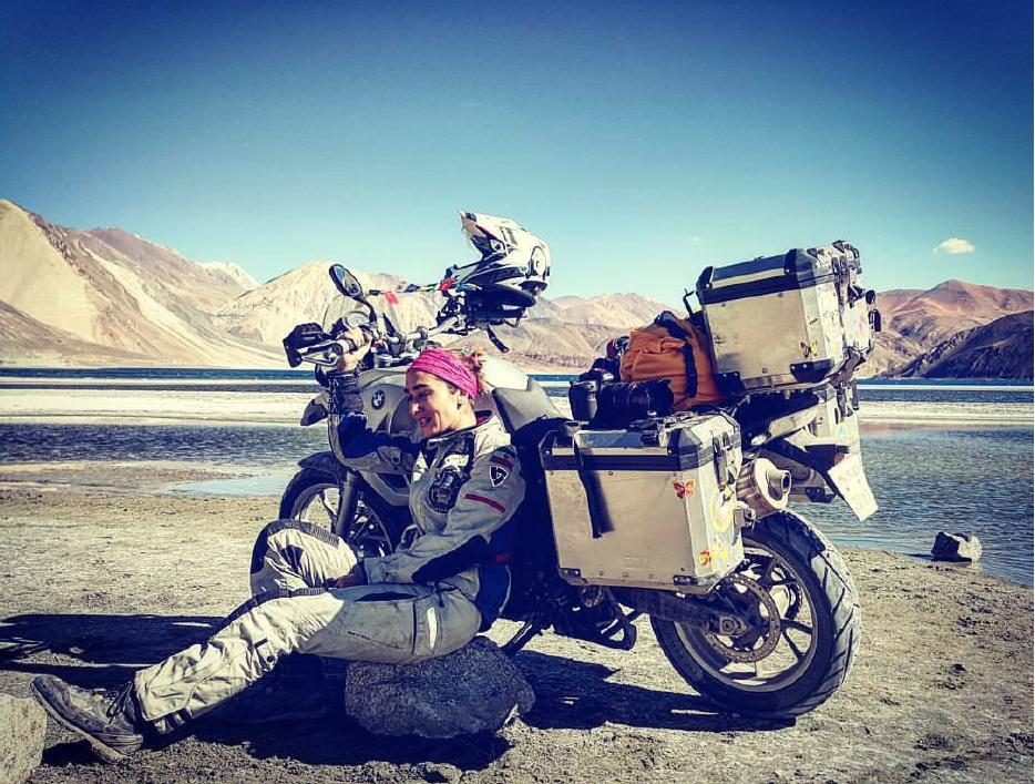 Maral Yazarloo, woman biker with motorcycle, Ride to be One, motorcycle ride, bike ride around the world, biker, female biker, riding, Iran, India, travel
