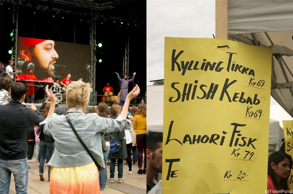 woman dancing, Oslo Mela, Melafestivalen, Bhangra music, concert, food stall, dance, festival, Norway, Scandinavia, Nordic, cuisine, street food, kebabs, fusion food, travel.