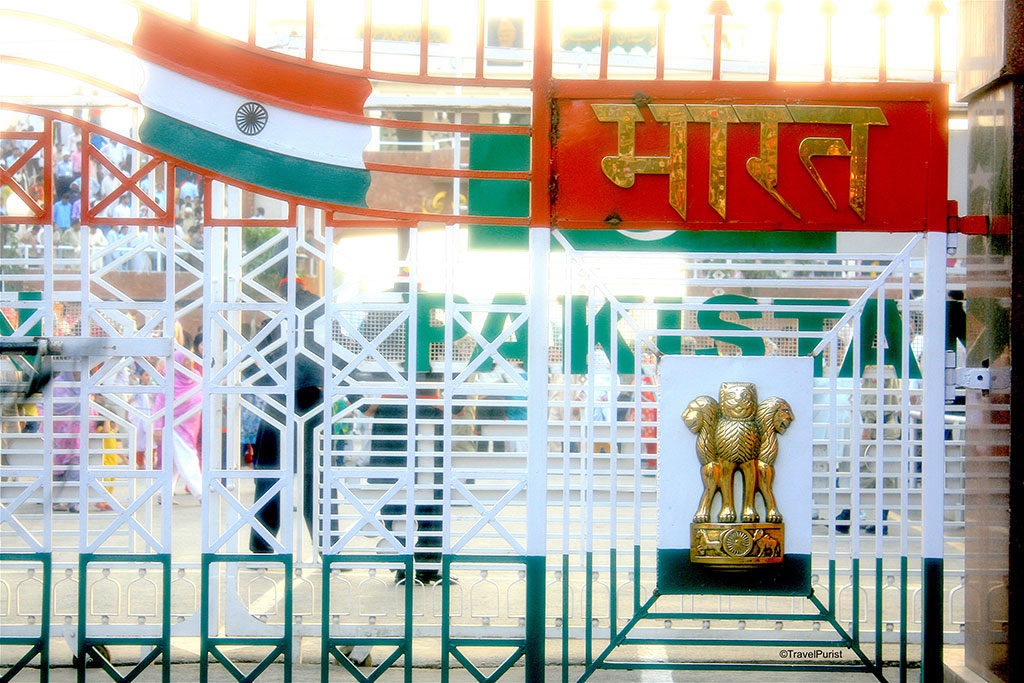 Independance day wagah border gate