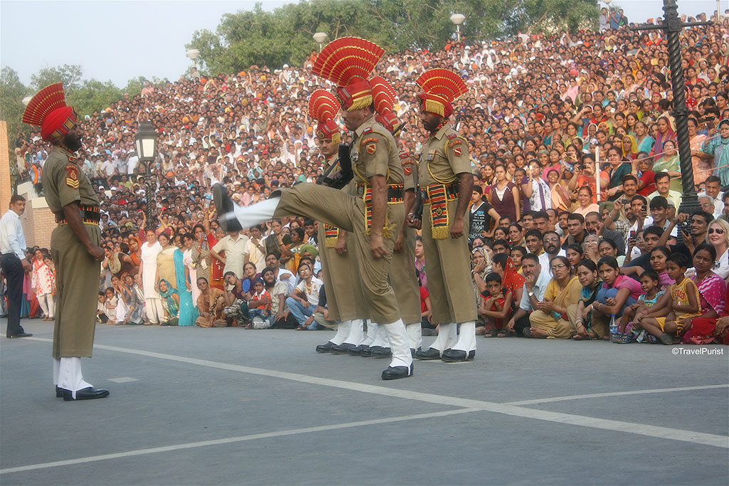 Independance day wagah border parade march